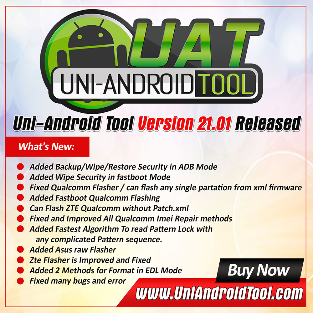 Uni-Android Tool [UAT] Version 21.01 Released [12/02/2019]